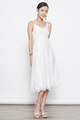 broderie anglaise midi dress in white