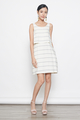 stripes tunic dress in cream