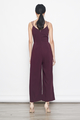 double straps maxi in burgundy