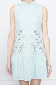 embroidered dropwaist cheongsam in mint
