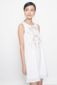 embroidered tunic dress in white
