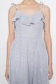 tiestrap ruffles eyelet dress in lilac grey