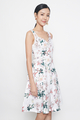 floral sweetheart dress in chinese florals
