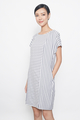 stripes tee dress in blue
