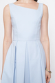 SLANTED NECKLINE DRESS IN LIGHT BLUE