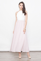 BRITTANY CROCHET LACE BRIDESMAID MAXI DRESS IN PINK