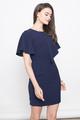 CORRIE FLUTTERSLEEVE SHIFT DRESS IN NAVY