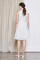 FLARE EYELET CHEONGSAM DRESS