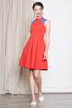 cheongsam flare dress