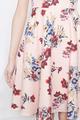floral midi dress in peach florals
