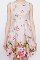 every womans dream dress in placement prints pink