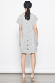 stripes tee dress in grey