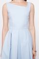 SLANTED NECKLINE DRESS IN LIGHT BLUE