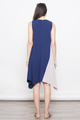 TAKARA COLOURBLOCK ASYM TUNIC IN NAVY