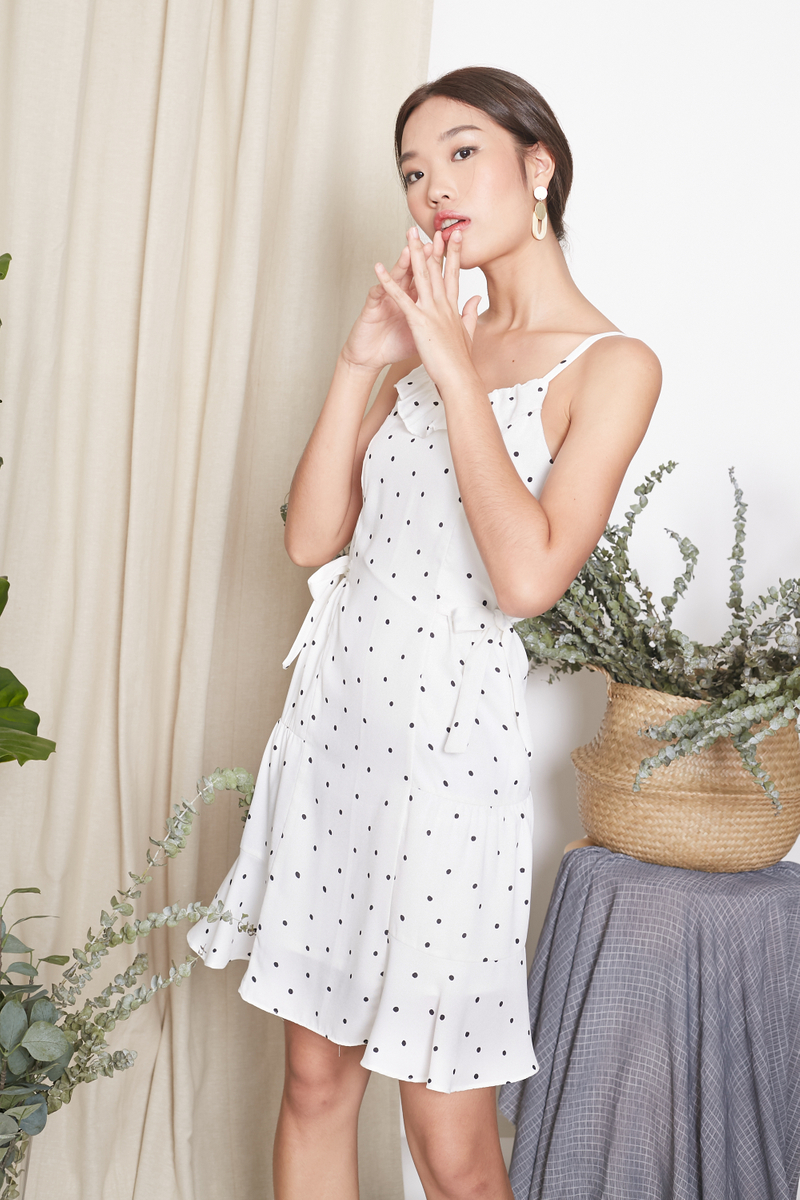 polkadot spaghetti dress
