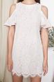 lace cold shoulder dress