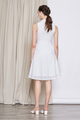 FLARE EYELET CHEONGSAM DRESS